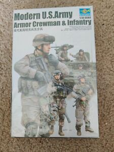 Trumpeter 00424 1/35 Modern US Army Armor Crewman Infantry Soldier Figures Model