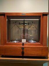 Vintage Antique Seederer-Kohlbusch Balance Beam Scale Apothecary Lab Wood Case