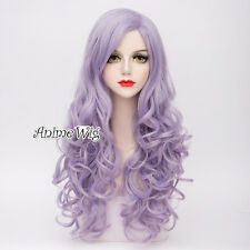 Lolita Light Purple Long 80CM Curly Fashion Party Cosplay Wig Heat Resistant