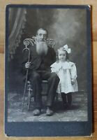 ANTIQUE EARLY 1900's OHIO AMERICAN MAN & GIRL PHOTO FURNITURE