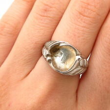 925 Sterling Silver Ring Base With Holder Of Size 6 1/4