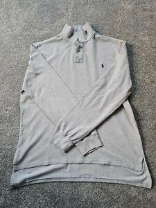 Polo Ralph Lauren Grey Long Sleeve Cotton Jersey Polo Top, Size XL