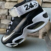 Nike Air Griffey Max 1 GS Size 6Y Black White Metallic Silver 437353-001