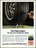 1968 Pulling Nail General Dual S90 Sidewinder Tires vintage photo print ad ads70
