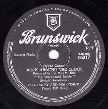 BILL HALEY & COMETS  78  ROCK AROUND THE CLOCK / THIRTEEN WOMEN  BRUNS. 05317 V+