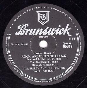 BILL HALEY & COMETS 78  ROCK AROUND THE CLOCK / THIRTEEN WOMEN UK BRUNS 05317 V+