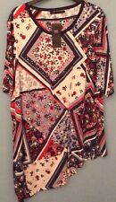 BNWT LADIES M&S COLLECTION  TOP, SIZE 24, NAVY MIX, FLOWERS
