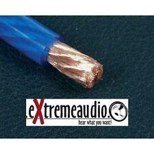 Strom Kabel 10,00 mm² blau-transparent Powerkabel Hochwertiges Strom-Massekabel