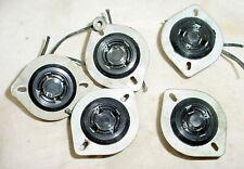 5 Used Vintage Amphenol 4 Pin Tube Sockets