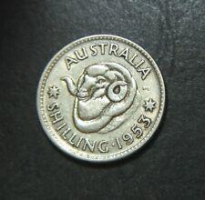 1953 Australian Shilling, Error coin, planchet peel