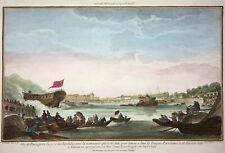 Paris - Vue de Paris, prise du port des Invalides - Huquier fils - Original 1761