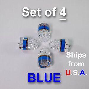 SET OF 4 DIAMOND LED fishing lights, BLUE, deep drop, swordfish, FREE Ship, USA