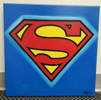 Superman Hand Painted Original Oil Painting By Cargill DC Justice League Hero
