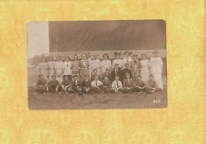 MA Fall River area 1908-29 RPPC real photo postcard MIDDLE SCHOOL AGE STUDENTS