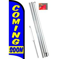 Coming Soon Windless-Style Feather Flag Bundle 14' OR Replacement Flag Only 11.5
