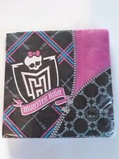 Monster High Party Supplies Lunch Napkins 16ct  Dinner or Lunch 12 7/8 × 12 7/8
