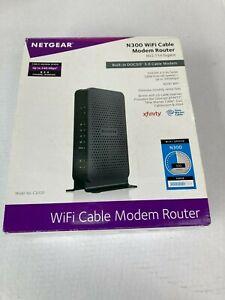 NETGEAR N300 C3000 (8x4) WiFi DOCSIS 3.0 Cable Modem Router Combo Black
