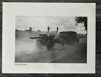 AQ) Blatt 2.WK 1940 Lkw Halbkette mit Artillerie Geschütz Rathaus Zamose Polen