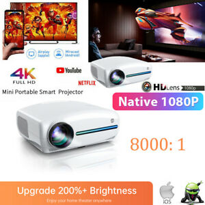 VIVIMAGE EXPLORE 3 Portable Projector 7000Lux HD 1080P 4K Support HDMI Speaker