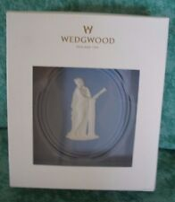 Wedgewood Blue Jasper 2013 Annual Ornament~Porcelain~Muse W/Harp~Niob #588344