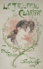 Lubin de Beauvais. Aquarelle - Le Troupeau de Clarisse. Paul Adam. 1904