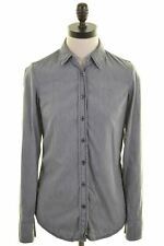 TOMMY HILFIGER Womens Shirt US 2 XS Grey Cotton Oversized EM02