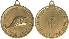 Medaglia Associazione Nazionale Alpini Gruppo di Lanzo 2° Raduno 1964 #MD3499