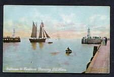 C1910 View of a Sailing Boat in Ramsey Harbour, Isle of Man.