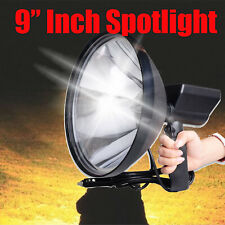 HandHeld Spotlight 12V 6000W 9Inch 240mm Driving Lamps Hunting White SearchLight