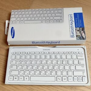 Samsung White Bluetooth Keyboard (compatible with laptop, desktop, tablet etc)
