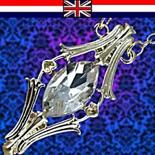 Inspired by Film & TV Magical Fairy Queen Silver Crystal Phial Pendant Necklace_