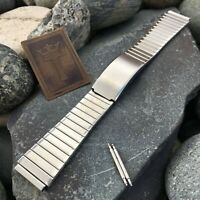 18mm Stainless Steel LED LCD New Old Stock Bear nos 1970s Vintage Watch Band