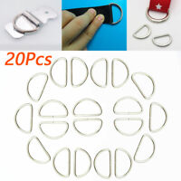 20pcs Metal D-Ring Buckle For 12/15/20/32/38mm Strapping Webbing Leather Bag New