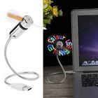 Flexible USB Fan LED Programmable Fan RGB Color Message Display For PC Laptop AM