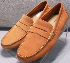 251783 DF30 Men's Shoes Size 8.5 M Orange Suede Slip on Shoes  Johnston & Murphy