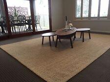 Jute Large Floor Rug Carpet Modern Designer Beige 150x220cm FREE DELIVERY