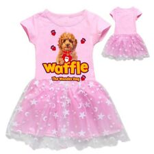 Girls Waffle The Wonder Dog Short Sleeve Sleepwear Pyjamas Princess Tutu Dress