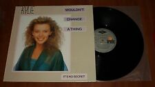 "KYLIE MINOGUE WOULDN'T CHANGE A THING *RARE* 12"" VINYL BMG 1989 GREEK PRESS"