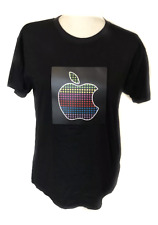 Electro Flash adult light up LED Apple icon logo short sleeve t-shirt small
