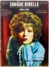 CINEMA ILLUSTRAZIONE SUPP. N.5 1933 SANGUE RIBELLE CLARA BOW Call Her Savage