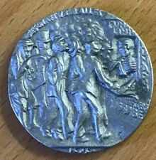LUSITANIA,RARE ,SILVERED LIGHT METAL,BRITISH PROPAGANDA MEDAL.HIGH GRADE.29.3 GR