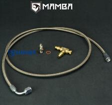 Universal 70cm M10x1.5 Subaru TF035HM TD04L TD05H turbo oil feed line w/ 1/8NPT