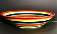 """Tabletops Unlimited """"Swirl"""" Large Serving Bowl, from the Hand Painted Collection"""