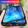 For Samsung S8 S9 S10 Plus Magnetic Adsorption Tempered Glass Back Case Cover