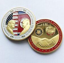 2018 Donald J. Trump & Kim Jong Un Peace Talks Summit Commemorative Coin Gold