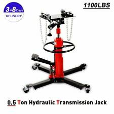 A++1100 lbs Transmission Jack 2 Stage Hydraulic w/ 360°For car lift auto lift