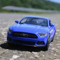 1:36 2015 Ford Mustang GT Model Cars Toys Collection&Gift Blue New Alloy Diecast