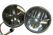 "TruckLite 27275C PAIR 7"" Round LED HEATED Headlight Pair Jeep Wrangler CJ TJ JK"