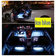4pcs/set Ice Blue 9LED Charger Interior Light Accessories SUV Floor Decorative