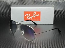 RAY BAN RB3025 003 3F Aviator Silver Crystal Grad Lt Blue 62 mm Men's Sunglasses